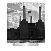 Pink Floyd Pig At Battersea Shower Curtain