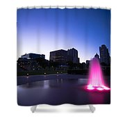 Pink Fountain Shower Curtain