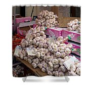 Pink Garlic Shower Curtain