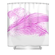 Pink Ghost Shower Curtain