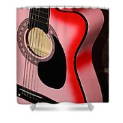 Pink Guitar Shower Curtain