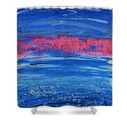 Pink In Sky Over Whitecaps Shower Curtain