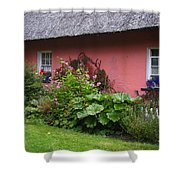 Pink Irish Cottage Shower Curtain