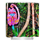 Pink Kitty Shower Curtain
