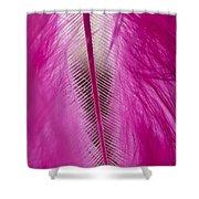 Pink Marabou Macro Shower Curtain