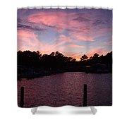 Pink N Blue Sunset On The Chesapeake Bay Va Shower Curtain