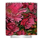 Pink Plus Pink Shower Curtain
