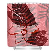 Pink Poster Floral II Shower Curtain