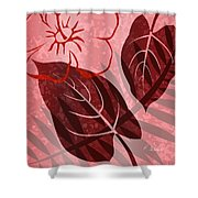 Pink Poster Floral Shower Curtain