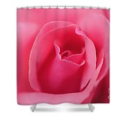 Pink Precious Powerful Rose Shower Curtain