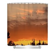 Pink Rays And Orange Skies Shower Curtain