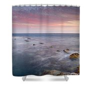 Pink Seasunset Shower Curtain