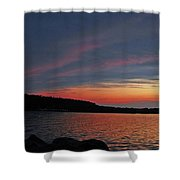 Pink Sky At Night Shower Curtain