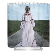 Pink Wedding Dress Shower Curtain
