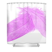 Pinks Crossed Shower Curtain