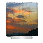 Pinnacle Peak Sunset Shower Curtain