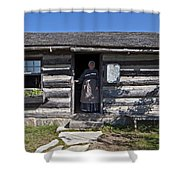 Pioneer Greeting Shower Curtain
