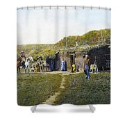 Pioneers Sod House, 1887 Shower Curtain