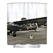 Piper L4 Grasshopper Usa Shower Curtain
