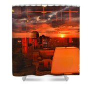 Pipestem Sunset Shower Curtain