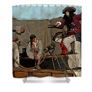 Pirates Of Peril Shower Curtain by DigiArt Diaries by Vicky B Fuller