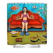 Pisces 3 Shower Curtain by Leah Saulnier The Painting Maniac