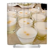 Pisco Sours Are Served By Peru Rail Shower Curtain