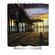 Pismo Beach Pier IIi Shower Curtain