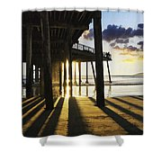 Pismo Pier Sunset II Shower Curtain
