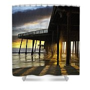 Pismo Pier Sunset IIi Shower Curtain