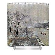 Pissarro: Louvre, 1902 Shower Curtain