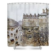 Pissarro: Theatre Francais Shower Curtain