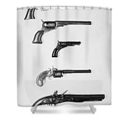 Pistols And Revolvers Shower Curtain
