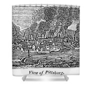 Pittsburgh, 1836 Shower Curtain