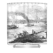 Pittsburgh, 1853 Shower Curtain