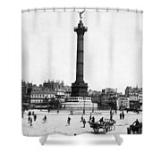 Place De La Bastille Shower Curtain