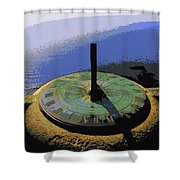 Place Time Dimension Shower Curtain