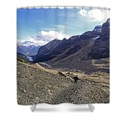 Plain Of Six Glaciers Trail - Lake Louise Canada Shower Curtain