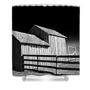 Plains Frontier Farm And Windmill Shower Curtain
