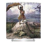 Plains Native American: Signal, 1873 Shower Curtain