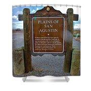 Plains Of San Agustin Shower Curtain