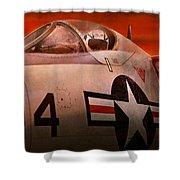 Plane - Pilot - Airforce - Go Get Em Tiger  Shower Curtain