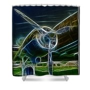 Plane Engine And Prop Shower Curtain