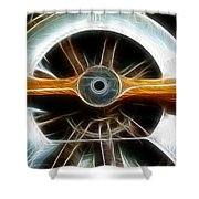 Plane Wood And Chrome Shower Curtain