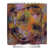 Planet Perspectives Shower Curtain