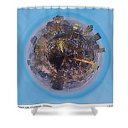 Planet Wee Montreal Quebec Shower Curtain