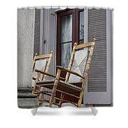 Plantation Rocking Chairs Shower Curtain