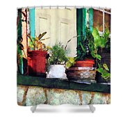 Plants On Porch Shower Curtain