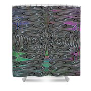 Platter Pandemonium Shower Curtain