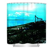 Play Between Heaven Water And Earth Shower Curtain